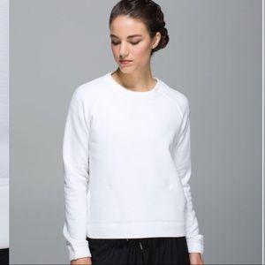 $128 Lululemon Cozy White Snapshot sweatshirt Sz6